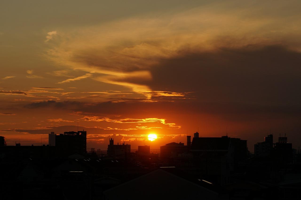 いつ観ても美しい落陽