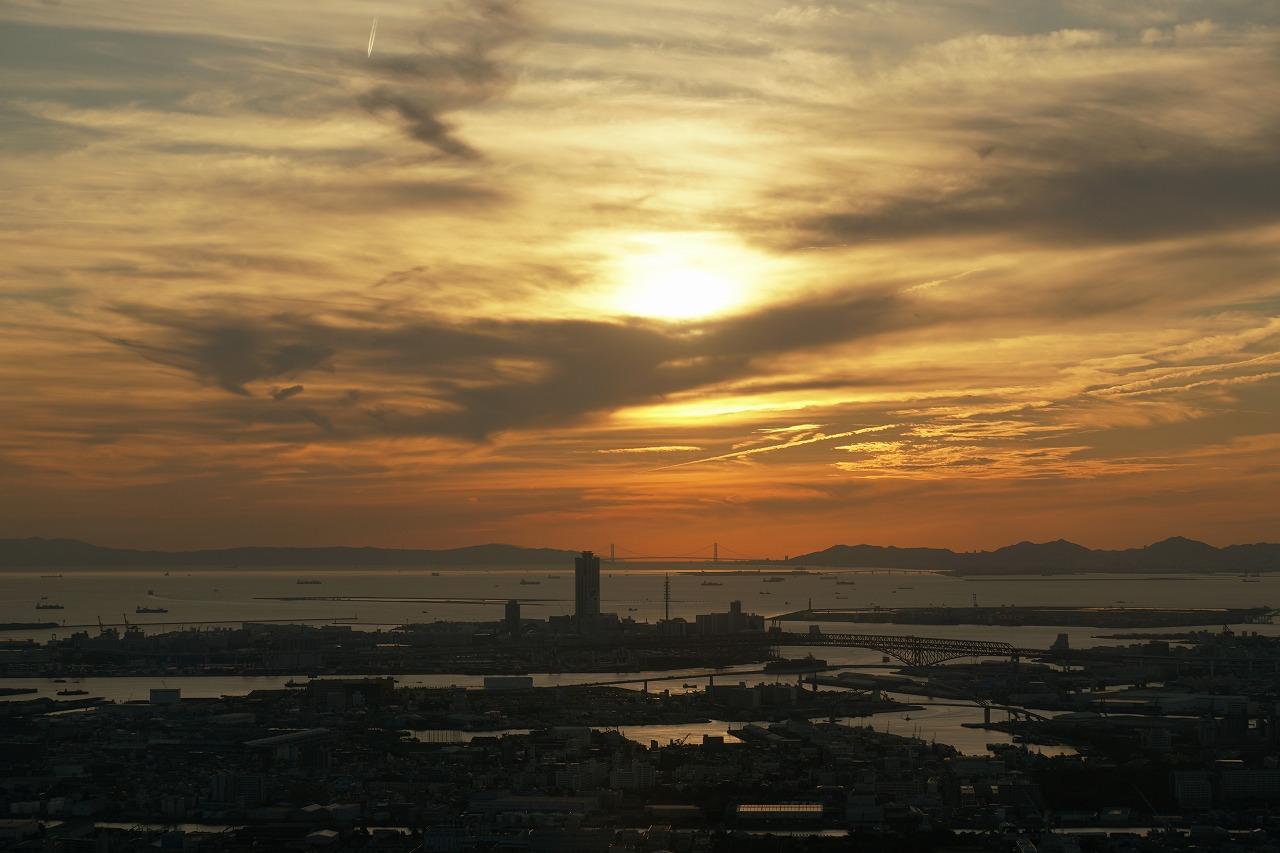 ハルカスからの落陽