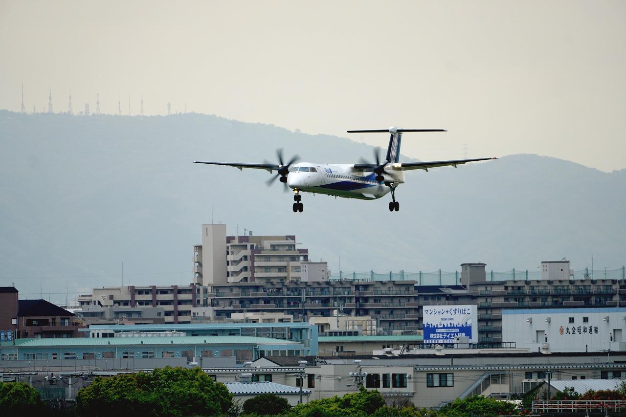 飛行機の見える景色